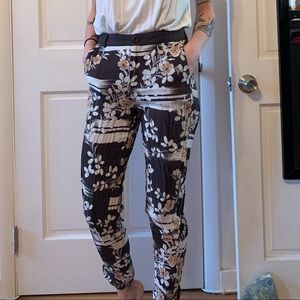 Floral Anthropologie Joggers